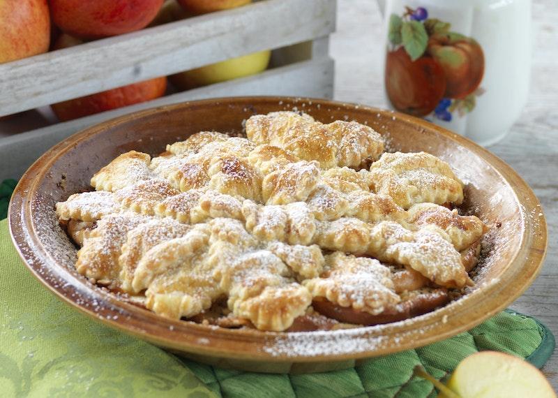 Enkel äppelkaka med smördeg