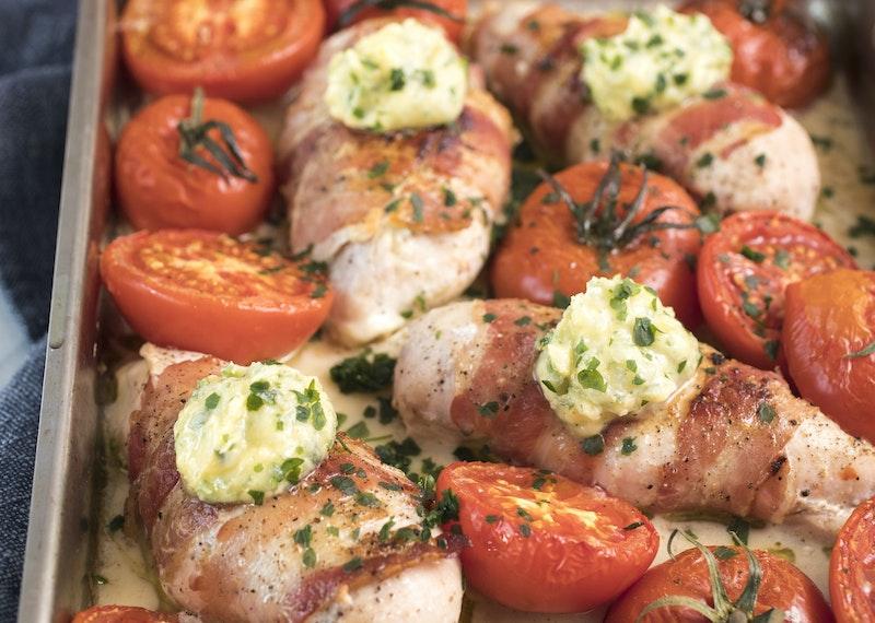 kyckling med gorgonzola och bacon