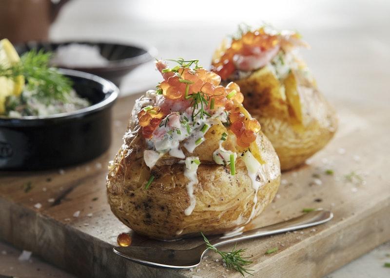 bakad potatis skagenröra recept