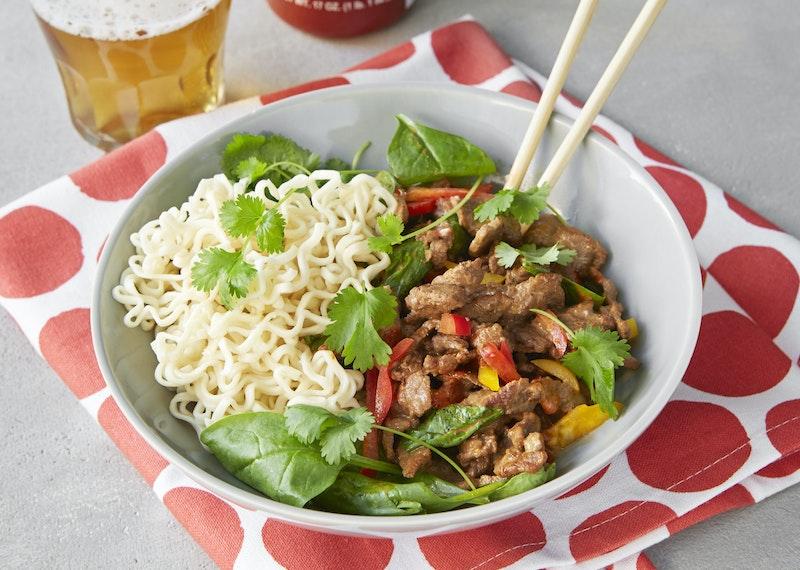 lövbiff thai recept