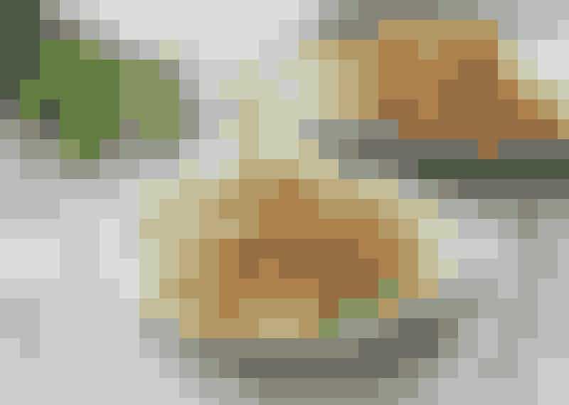 Fläskfilégryta med squashspagetti.