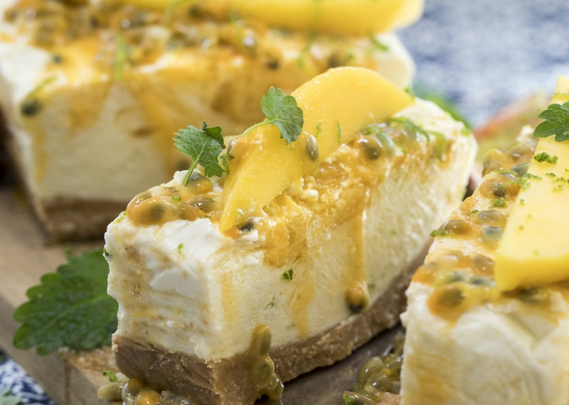 Fryst cheesecake med mango & lime