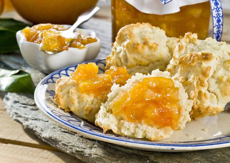Glutenfria scones med havregryn.