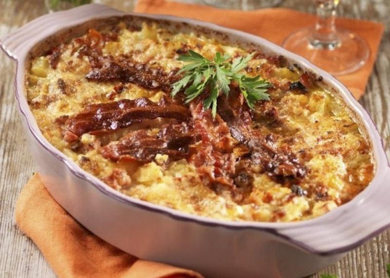 Potatis och bacongratäng