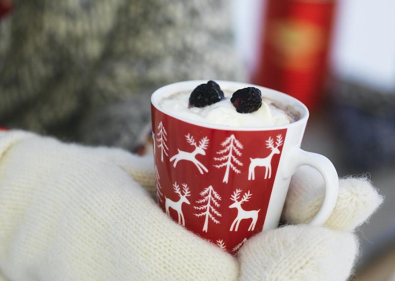 Kryddig varm choklad med kanel.