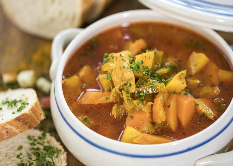 kycklingsoppa curry äpple