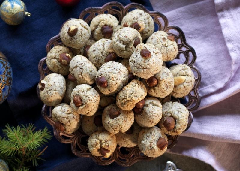 småkakor med hasselnötter