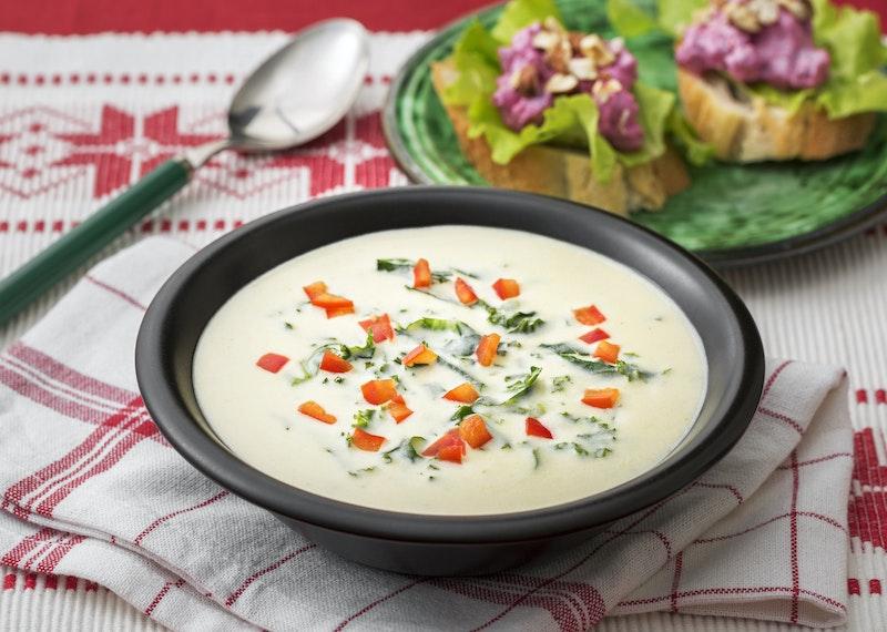 Ostsoppa med grönkål