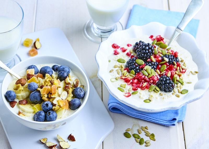 Overnight oats med goda toppings