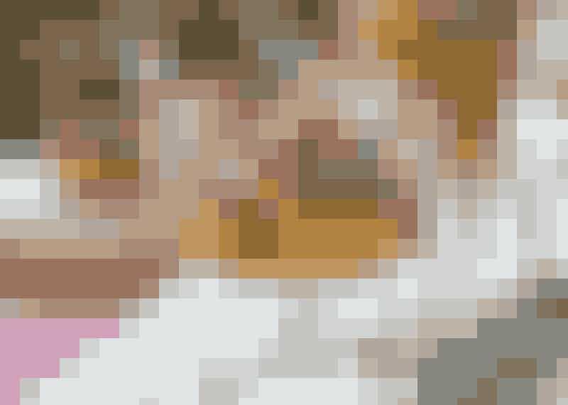 Pumpakräm med räkor.