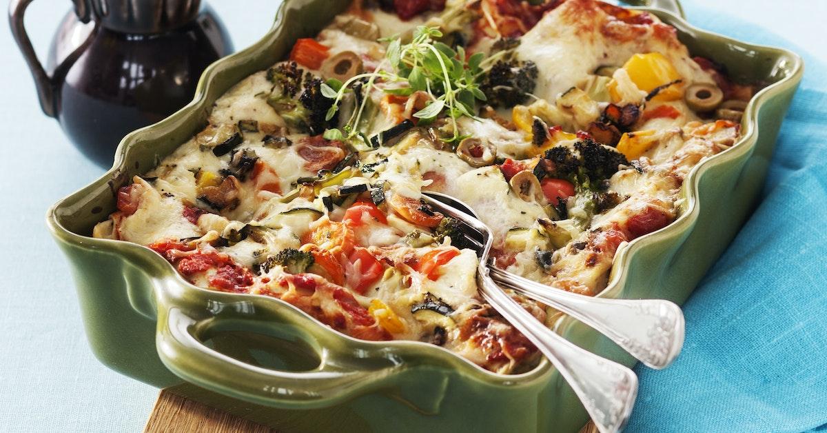 vegetarisk lasagne squash