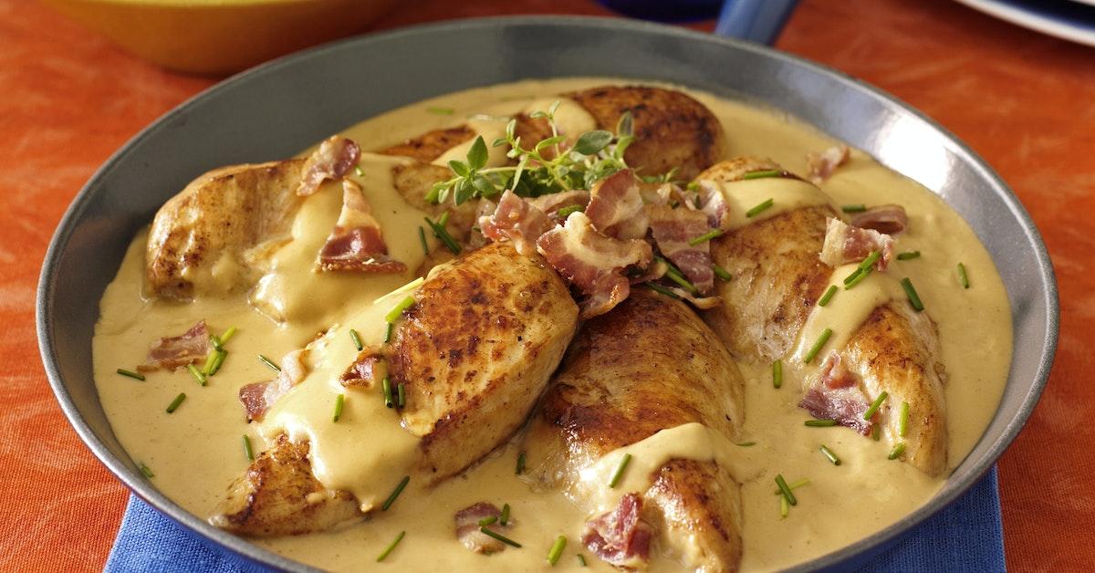 kycklingfile recept bacon