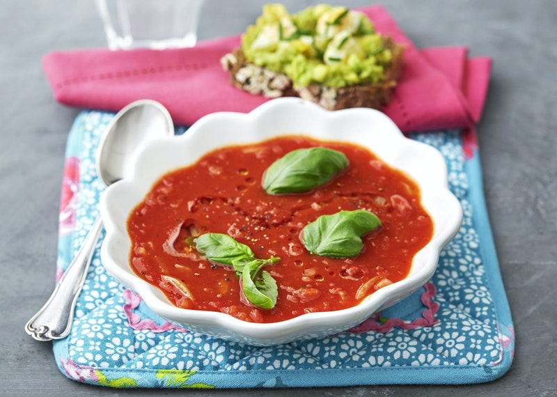 Tomatsoppa med olivolja