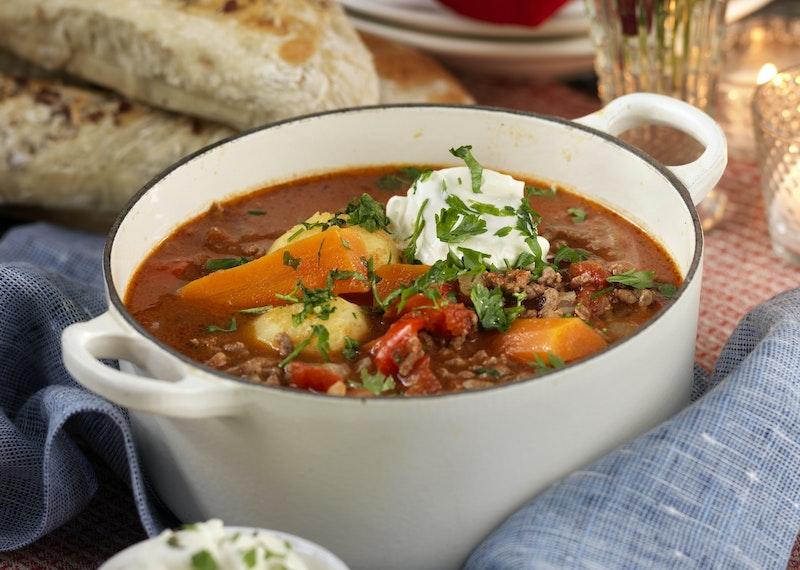Ungersk gulaschsoppa med köttfärs
